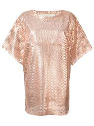 перфорированное платье шифт Drome