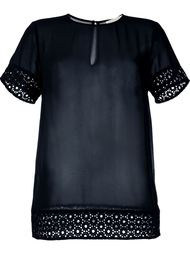 блузка с вышивкой Michael Michael Kors