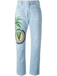 джинсы с принтом логотипа Versus