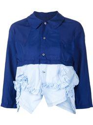 комбинированная блузка с рюшами Comme Des Garçons
