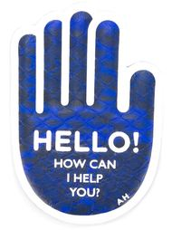 наклейка 'Hello…' Anya Hindmarch