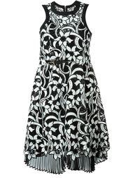 платье с цветочной вышивкой  Sacai