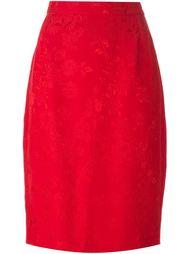 жаккардовая юбка с цветочной вышивкой Versace Vintage