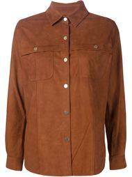 замшевая куртка-рубашка Frame Denim