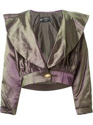 укороченная куртка с эффектом металлик  Emanuel Ungaro Vintage