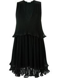 плиссированное платье без рукавов  Chloé