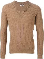 свитер с V-образным вырезом Yves Saint Laurent Vintage