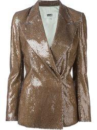двубортный пиджак с пайетками Mm6 Maison Margiela