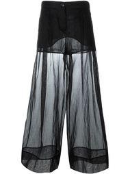 прозрачные широкие брюки Emilio Pucci