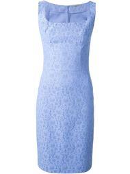 жаккардовое кружевное приталенное платье  Ermanno Scervino