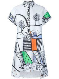 платье с графическим принтом Novis