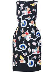 приталенное платье с вышивкой Oscar de la Renta