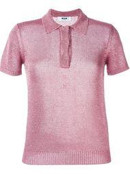 вязаная рубашка-поло MSGM