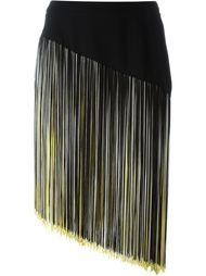 асимметричная юбка с бахромой Christopher Kane