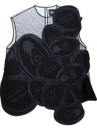 блузка с прозрачными панелями Xiao Li