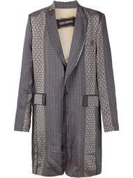 однобортное пальто с принтом Uma Wang