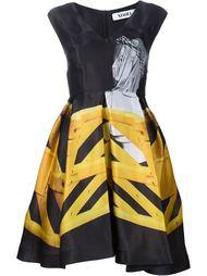расклешенное платье с фото принтом Xiao Li