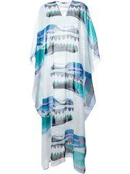 длинное платье с абстрактным принтом MSGM