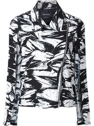 байкерская куртка с абстрактным принтом   Yigal Azrouel