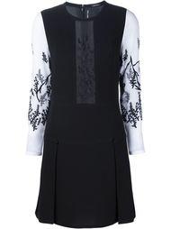 платье с прозрачной панелью и вышивкой Yigal Azrouel