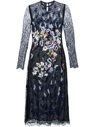 кружевное платье с цветочной вышивкой Yigal Azrouel