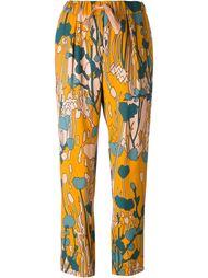 брюки с цветочным принтом Odeeh
