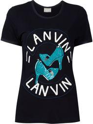 футболка с пайетками Lanvin