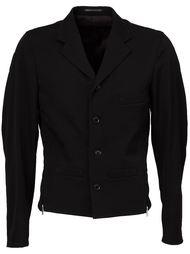 приталенный пиджак с отделкой молниями Yohji Yamamoto