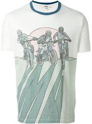 футболка с принтом байкеров YMC