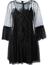 кружевное платье с рюшами  Gianluca Capannolo