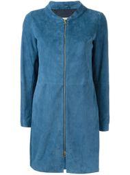 пальто с панельным дизайном на молнии Herno