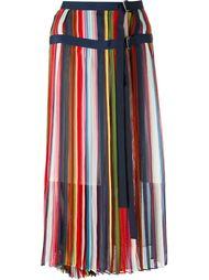 полосатая юбка миди Sacai