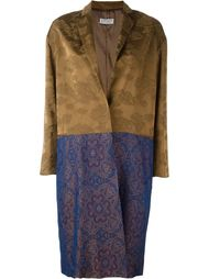 пальто с контрастным подолом  Alberto Biani