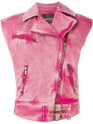 байкерская куртка без рукавов Roberto Cavalli