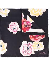 платок с цветочным принтом Chanel Vintage