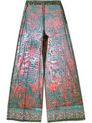 широкие брюки с принтом Valentino