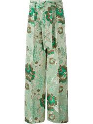 жаккардовые брюки с цветочным принтом Christian Pellizzari