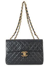сумка с цепочной отделкой Chanel Vintage