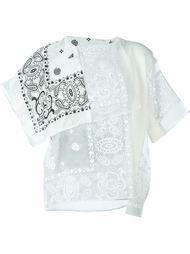"""драпированная блузка с принтом """"пейсли"""" Sacai"""