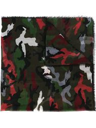 шарф с камуфляжным принтом Valentino