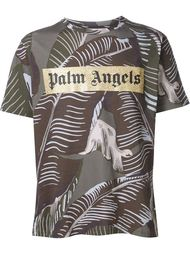 футболка с лиственным принтом Palm Angels