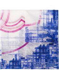 платок с принтом-логотипом Chanel Vintage