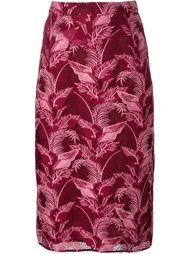 юбка миди с лиственным мотивом House Of Holland