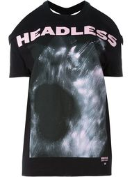 футболка с вырезами на плечах Hood By Air
