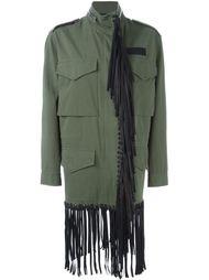 куртка в стиле милитари с бахромой Alexander Wang