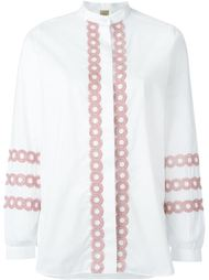 рубашка с вышивкой  Fay
