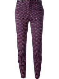 брюки с мелким узором Alberto Biani