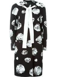 пальто с цветочным принтом и завязкой Proenza Schouler