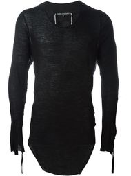 удлиненная футболка асимметричного кроя  Cedric Jacquemyn
