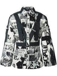 рубашка с газетным принтом KTZ
